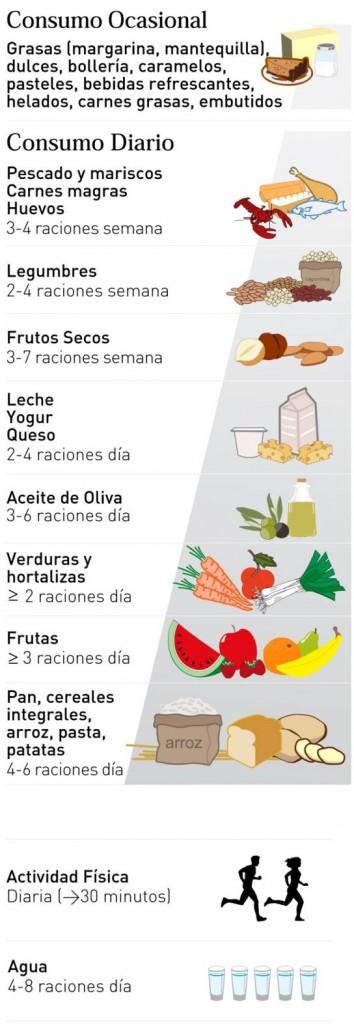 39933aaaa878 En la base de la pirámide se ubican aquellos alimentos que deben estar más  presentes en nuestra dieta, y en la cúspide de la misma, aquellos que deben  ...