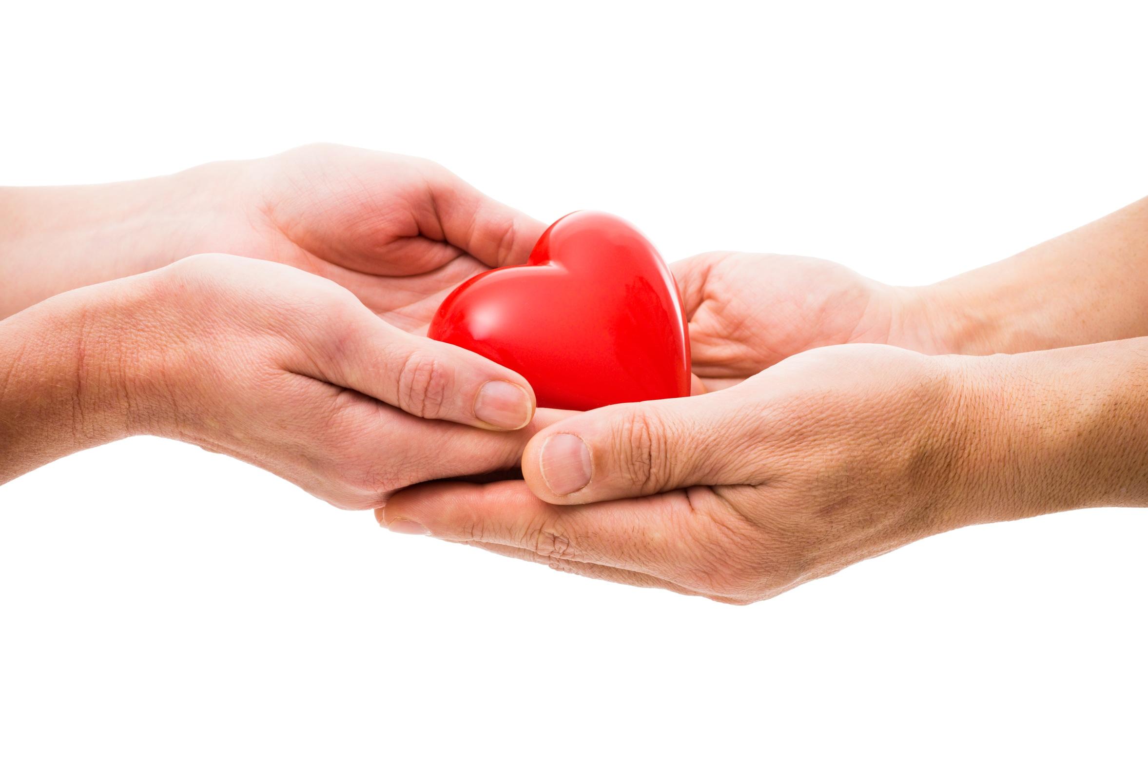 La donación es un gesto voluntario y altruista.