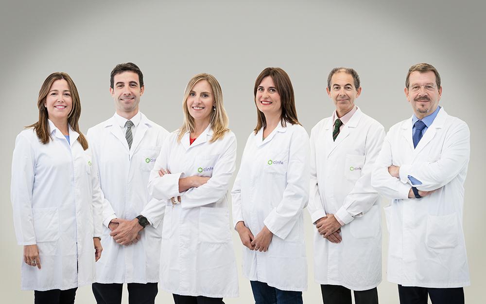 Equipo médico de CinfaSalud. Todos nuestros expertos a tu disposición
